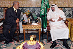 King Receives Moroccan Premier