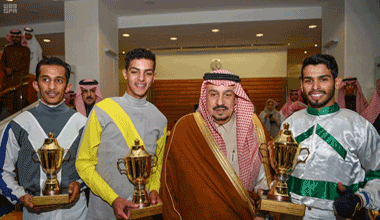 On behalf of the King, Governor of Riyadh Patronizes Annual Grand Horse Race Festival