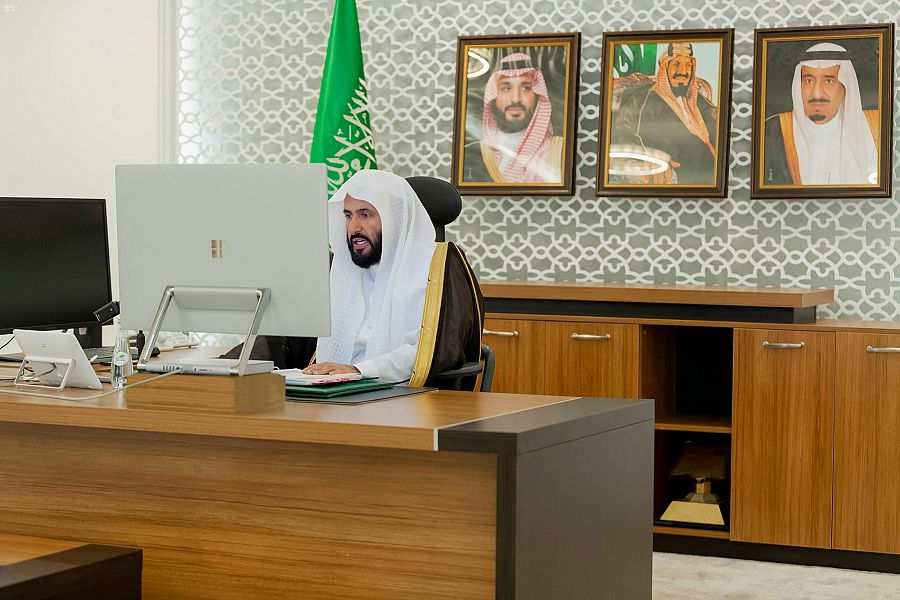 Minister of Justice chairs a virtual meeting of the Arab Justice ministers executive bureau